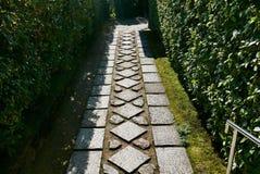Путь сада в японском саде Стоковые Изображения