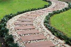 Путь сада каменный Стоковое Изображение