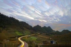 Путь света в Moc Chau Вьетнаме стоковые фото