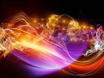 Путь световой волны иллюстрация штока