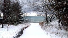 Путь снега стоковые изображения rf