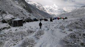 Путь снежка стоковое фото