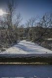 путь снежный Стоковое Изображение