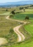 Путь страны в горах Lozere Стоковые Изображения RF
