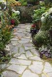 Путь с цветками осени стоковое изображение