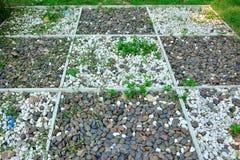 Путь текстуры гравия в саде Стоковая Фотография