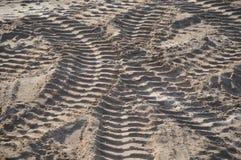 Путь тележки на земле Стоковое Изображение RF
