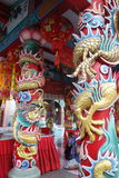 Путь традиционного китайския сделать желание на небесной деревне Suphanburi дракона, Таиланде Стоковые Фотографии RF