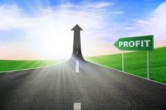 Путь улучшить профит стоковые фото