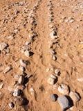 путь утесов на направлении пути следа пола расположения пляжа uni стоковое изображение