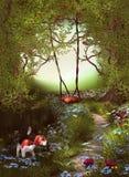 Путь фантазии зеленый Стоковые Фотографии RF