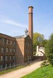 путь хлопкопрядильной фабрики старый Стоковые Фотографии RF