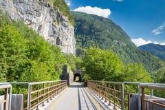 Путь цикла Alpe Adria, Италия стоковые фото