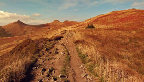 Путь через горы Стоковое Изображение