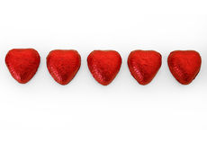 путь 3 сердец шоколада включенный Стоковые Изображения RF