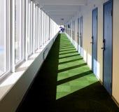 Путь Hall в гостинице курорта Стоковые Изображения RF