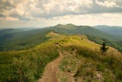 Путь Mountin в Bieszczady Стоковые Фотографии RF