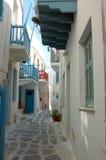 путь mykonos Греции переулка стоковое изображение rf