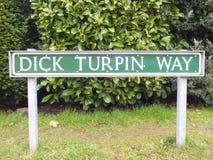 Путь Turpin члена дорожного знака Стоковые Изображения RF