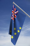 путь tuvalu флага клиппирования Стоковое Изображение RF