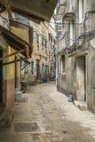 путь zanzibar городка переулка главным образом каменный стоковые изображения