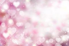 Пушистая мягкая розовая предпосылка для валентинки, праздник bokeh, свадьба, l стоковые фото