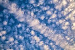 Пушистая предпосылка текстуры облаков Стоковые Фотографии RF