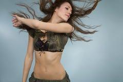 пушистые волосы Стоковая Фотография