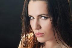 Пушистые влажные волосы Стоковые Изображения RF