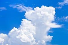 Пушистый и сброс заволакивает в голубое небо, большой кумулюс Стоковые Фотографии RF
