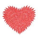 пушистый красный цвет сердца Стоковое Фото