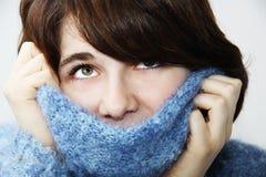 пушистый свитер девушки 2 Стоковые Изображения RF
