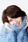 пушистый свитер девушки 5 Стоковые Фото