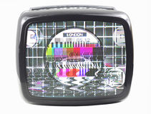 пушистый tv Стоковая Фотография RF