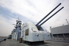 пушка военноморская Стоковая Фотография