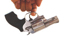 Пушка в руке Стоковое Фото