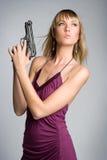 пушка девушки сексуальная Стоковое Фото