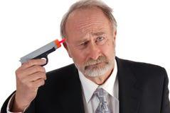 пушка дротика бизнесмена Стоковое Фото
