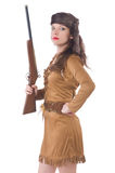 пушка изолировала женщину Стоковая Фотография