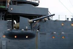пушка крейсера смычка рассвета Стоковое фото RF