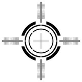 пушка над белизной визирования Стоковое фото RF