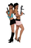пушки девушок стоковые фото