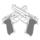 пушки иллюстрация штока