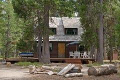 пуща кабины деревянная Стоковые Изображения