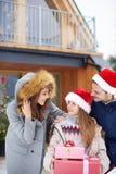 пуща рождества knurled зима снежных тропок утра широкая Стоковое Изображение