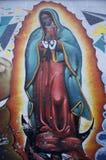 Пуэбла, Мексика 7-ое ноября 2016: Дама граффити guadalupe стоковое фото