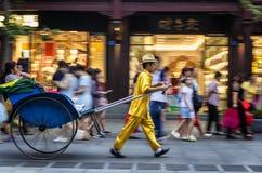 Пулеры рикши стоковые фотографии rf