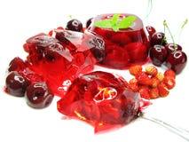пудинг студня десерта вишни Стоковое Изображение RF
