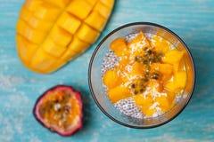 Пудинг Chia с манго Стоковое Изображение