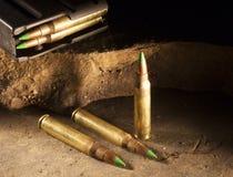 Пули наклоненные зеленым цветом Стоковая Фотография RF